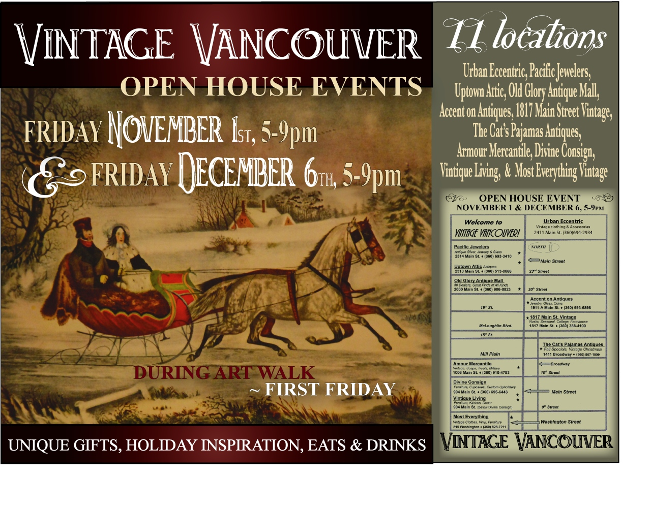 You are Invited to our Holiday Open House Events