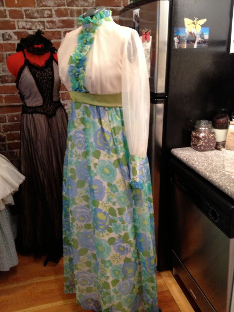1960's dress with lots of possibilities. Before picture.