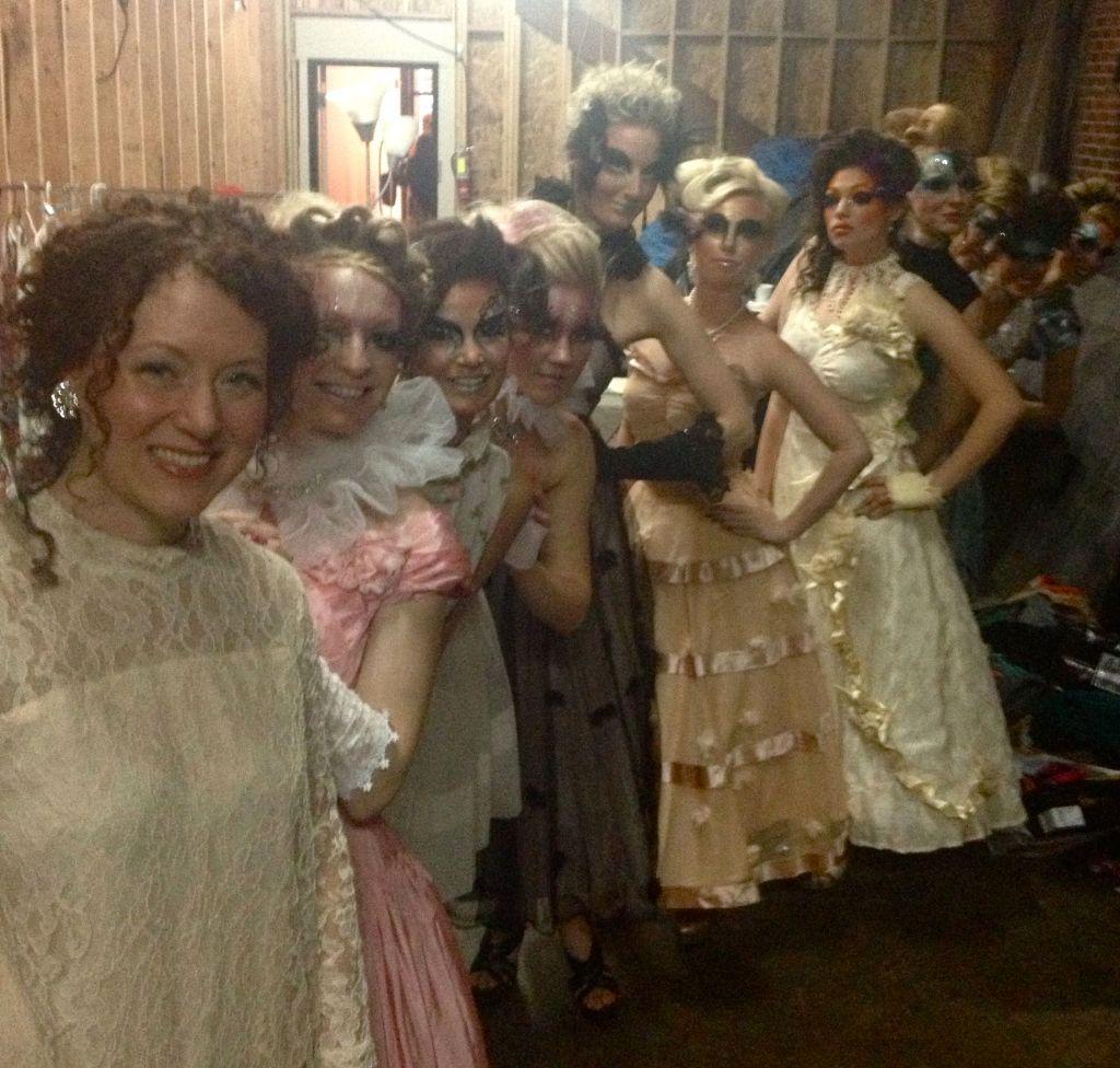 pre-show line-up backstage