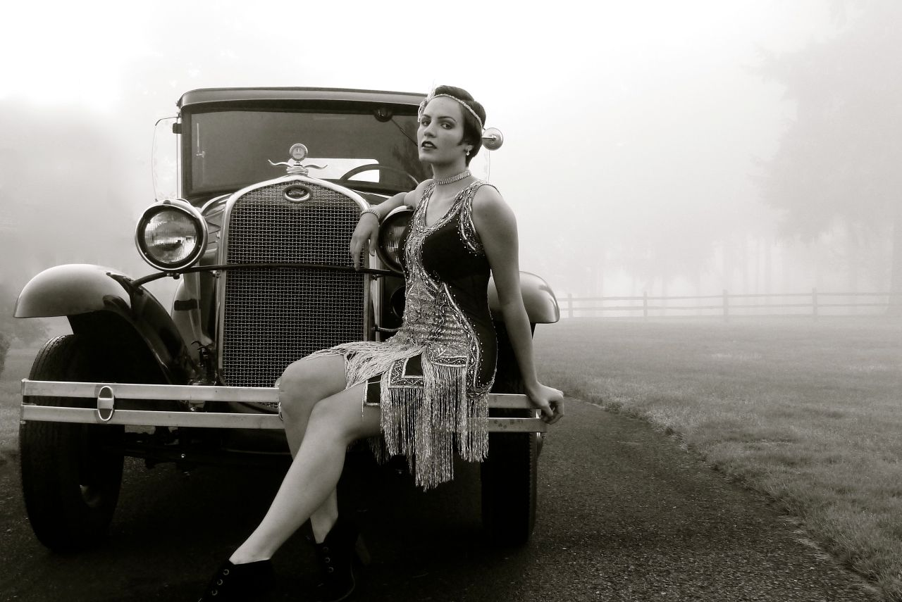 1920's shoot in Black and White