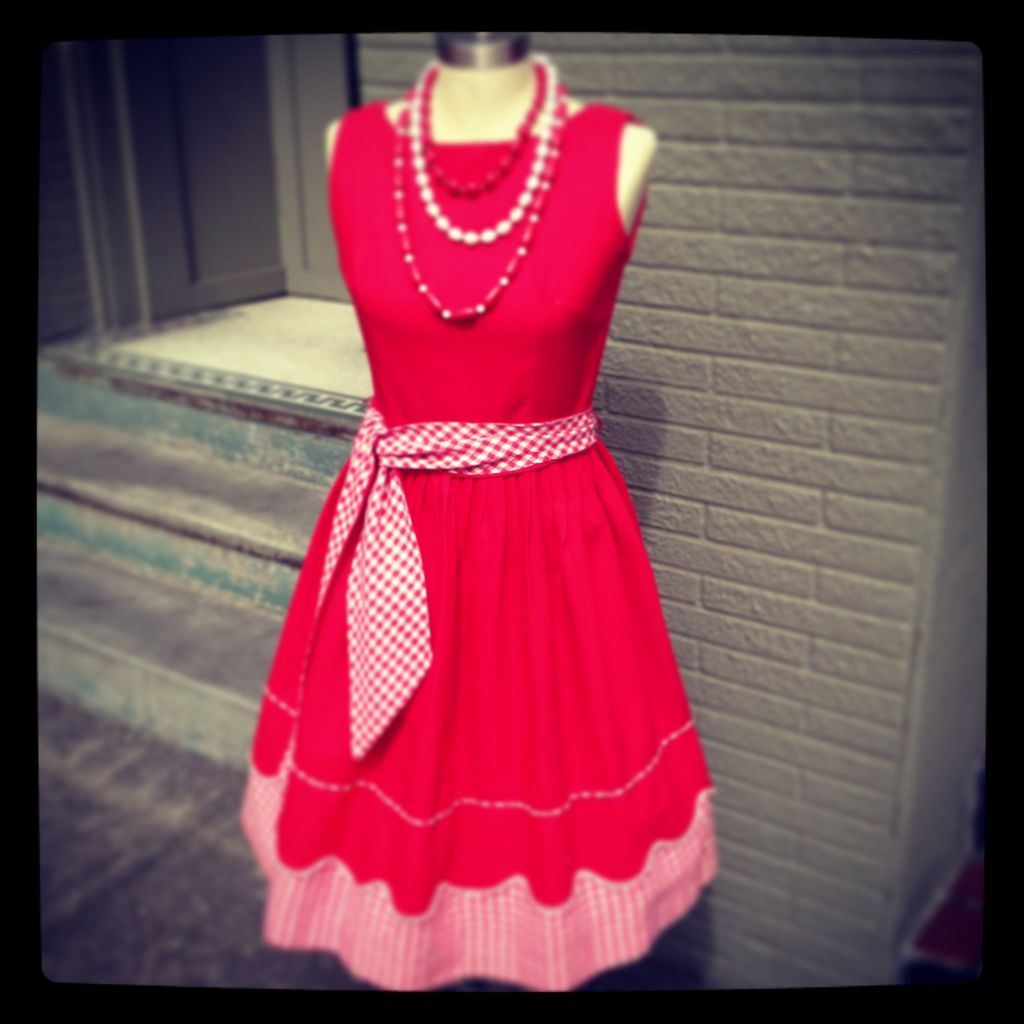 Classic 50's red and white dress