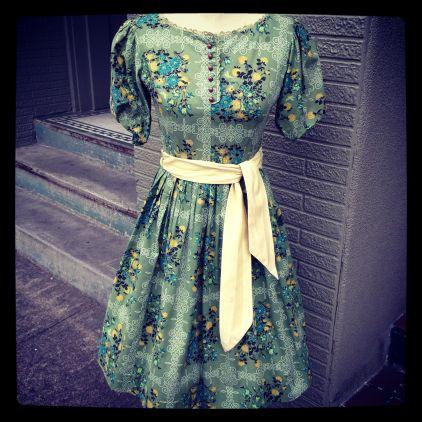 50's sage dress