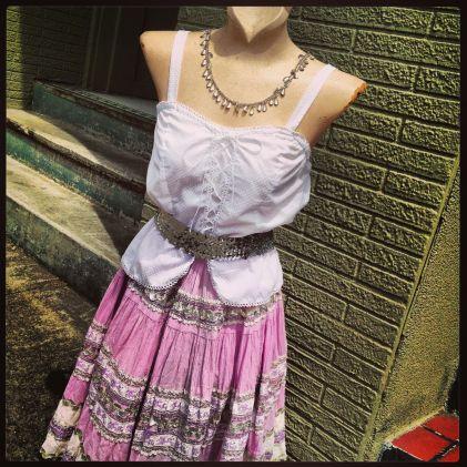 dancing skirt pink