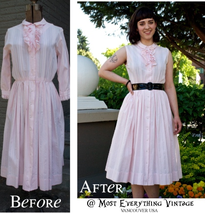 All the way from Nashville... Pretty in pink 50's. Waist 26 in. $48