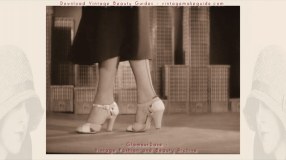 1930s shoe fashions - formal afternoon heels