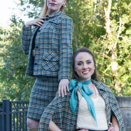 Joelle & Sondra-Teal Plaid-1