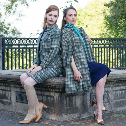 Joelle & Sondra-Teal Plaid-2