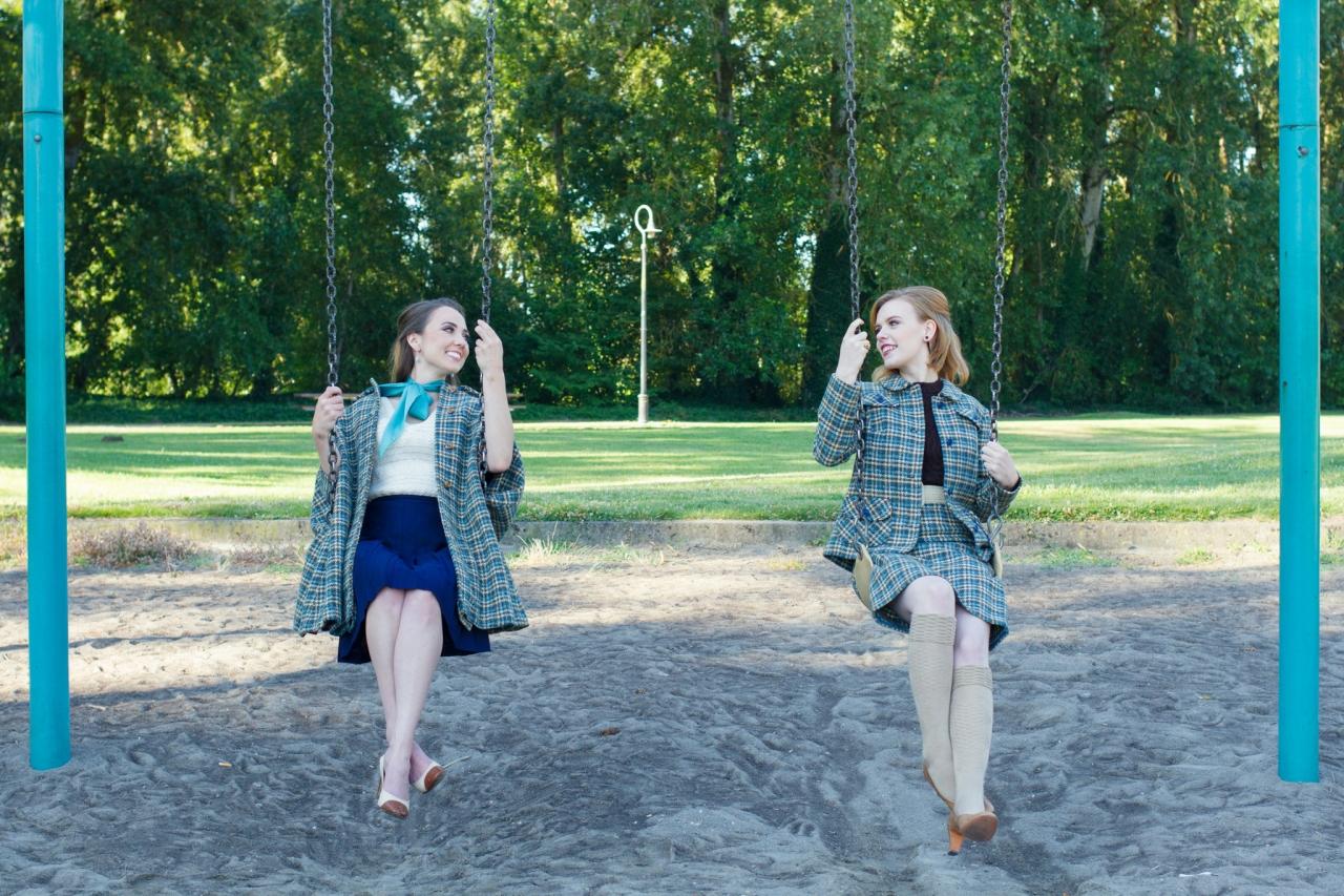 Joelle & Sondra-Teal Plaid-6